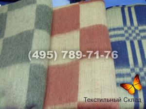Одеяло 1.5сп 70% шерсти клетка